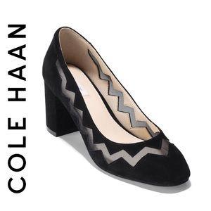 Cole Haan Black Suede Emilia Pump, Size 8.5